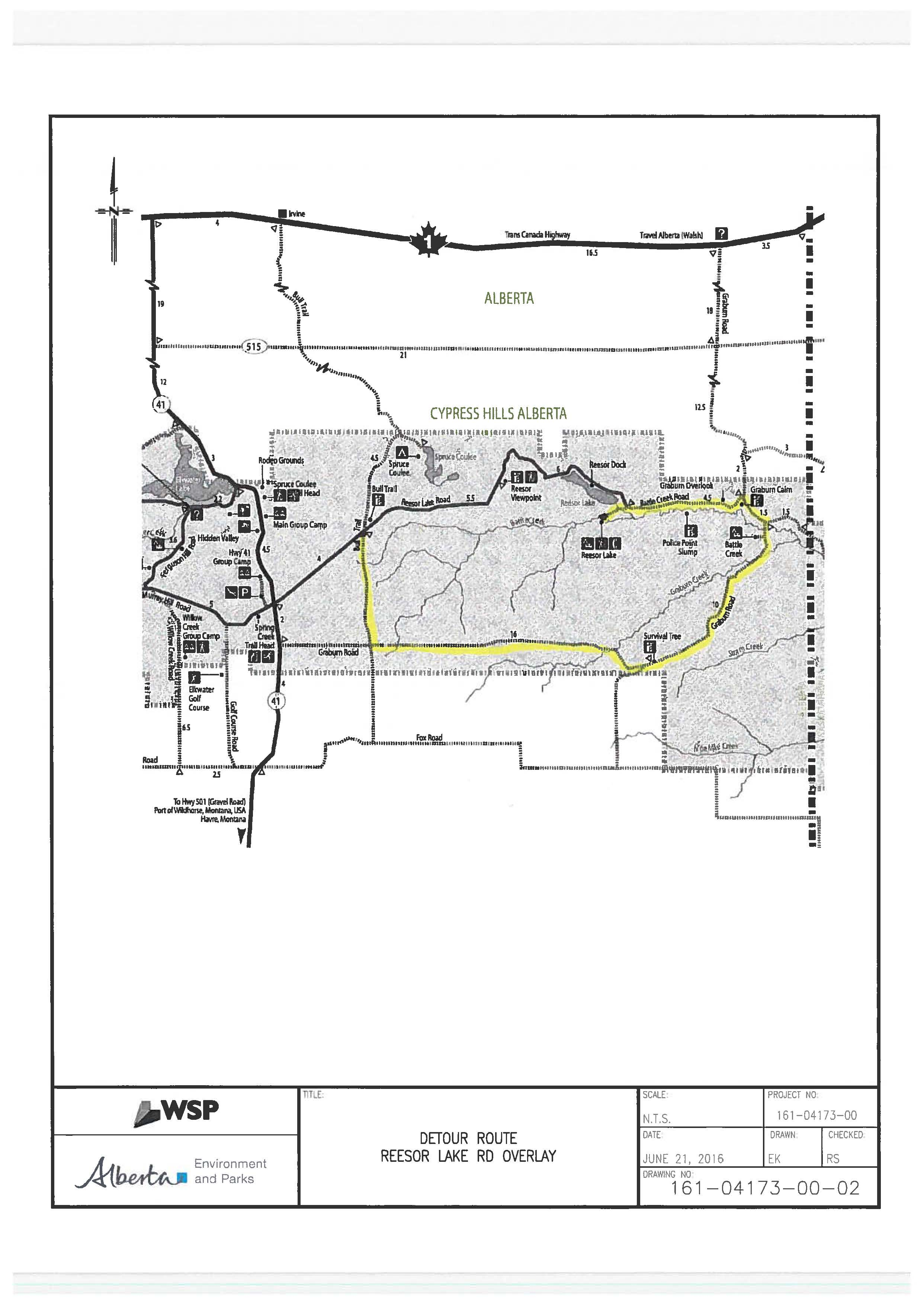 Reesor Lake Road Paving Repairs and Overlay: Sept 6 - Oct 31