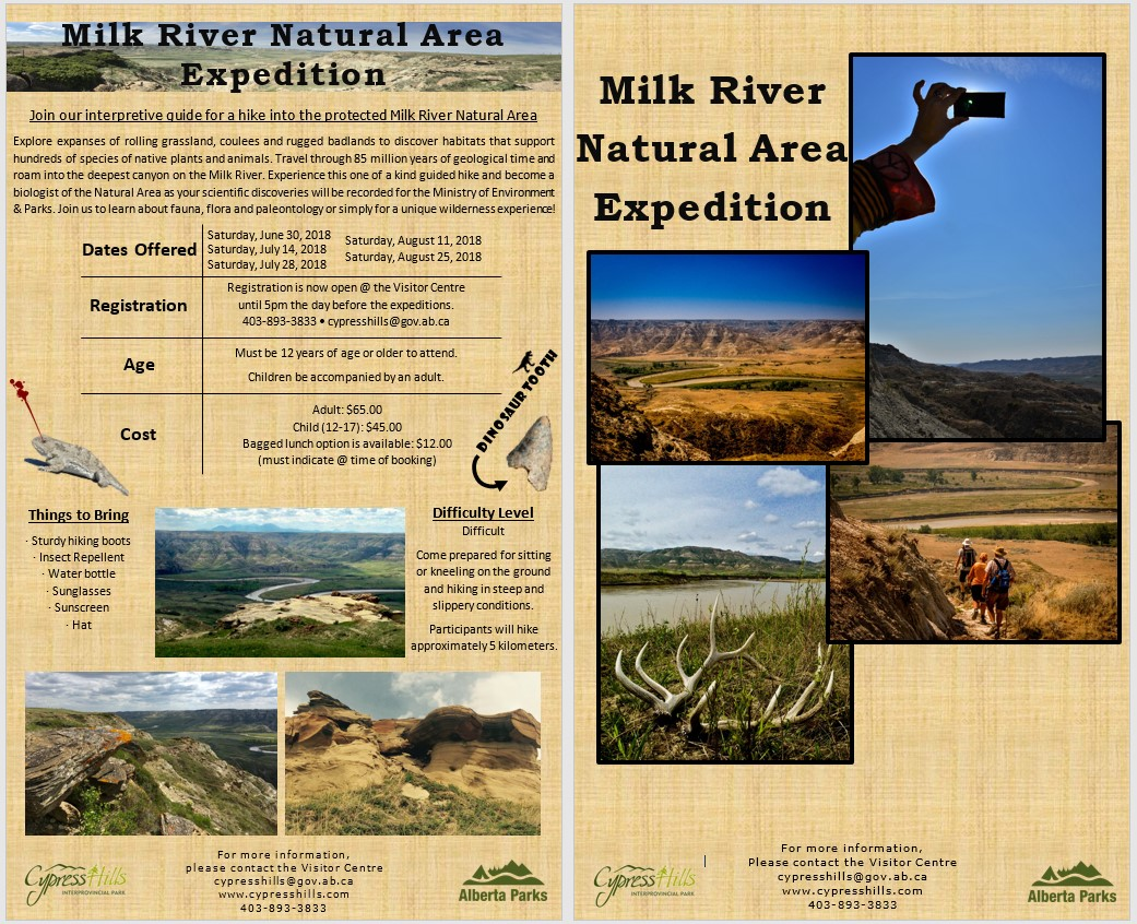Milk River Natural Area Expedition 2018